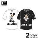 リバーサル REVERSAL Tシャツ 半袖 Mickey Mouse / JIU-JITSU TEE (reversal tシャツ ミッキー コラボ ホワイト ブラック rvMKY14aw002 ストリート)