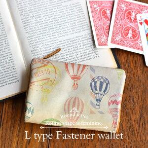L型L字ファスナー折り財布/二つ折り財布◆ラウンドバルーン【送料無料】【HIRAMEKI./ヒラメキ】【楽ギフ_包装選択】