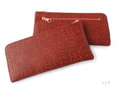 L型長財布 ◆ウィリアム・モリス レッド【送料無料】【HIRAMEKI./ヒラメキ】