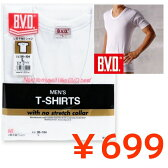 BVD GOLD 丸首U首半袖Tシャツ インナー肌着【B.V.D】ホワイト 白