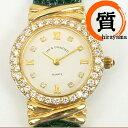18K&DIAMOND 750 腕時計 クォーツ 金時計 レディース ダイヤモンド ゴールド ABランク【中古】