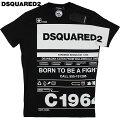 DSQUARED2ディースクエアードメンズ半袖TシャツS74GD0697S22427900ブラック