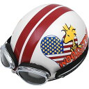 アークス AXS ハーフヘルメット スヌーピー アメリカンハート オフホワイト 57-58cm SNV-22 HD