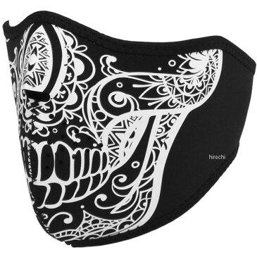 ライズ ハーフフェイスマスク ネオプレン スカル 白 フリーサイズ 4527625099401 HD店