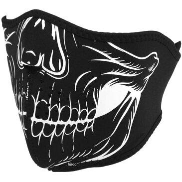 【メーカー在庫あり】 ライズ ハーフフェイスマスク ネオプレン スカル 白 フリーサイズ 4527625099418 HD店