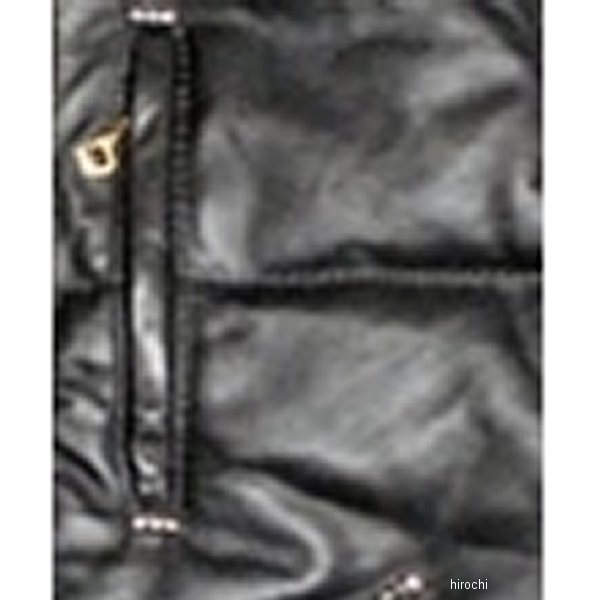 VLJ2A ヴィンアンドエイジ Vin&Age 2017年 秋冬モデル レザーパディングベスト 黒/シルバー 38サイズ VLJ2A-BK-SIL-38 HD店