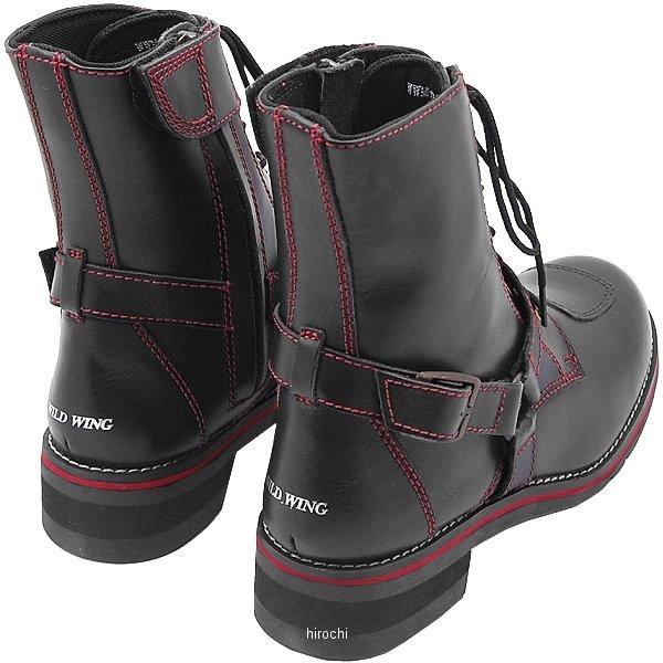 ワイルドウイング WILDWING ライディングブーツ ファルコン フラッグシップモデル 黒/赤 26.5cm WWM-0001 HD店