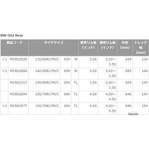 MCR02829ブリヂストン(BRIDGESTONE)バトルウィングBW-502130/80R1765HWリア