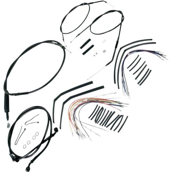 【USA在庫あり】 0610-0268 B30-1002 バーリーブランド Burly Brand ケーブル キット 黒 04年-06年 XL 14インチ エイプバー用