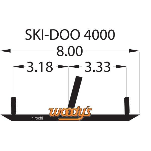 ATV・トライク・スノーモービル, その他 USA Woodys 4(102mm) 60Ski-Doo () 4612-0231 HD