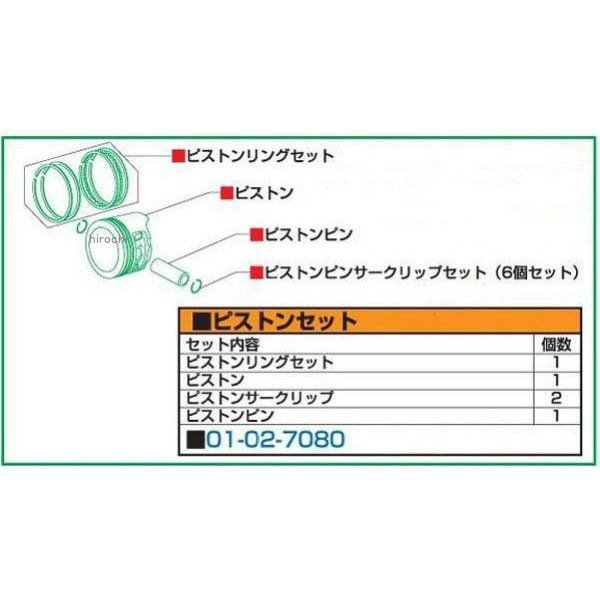 【メーカー在庫あり】 SP武川 RステージEM Rステージ+D 88cc リペアパーツ ピストンキット モンキー ゴリラ 01-02-7080 HD店