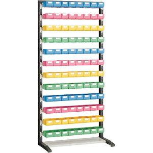 UPR-L1812ATRUSCOUPRラック片面H1900ビン小青・赤・黄・薄緑各24個付