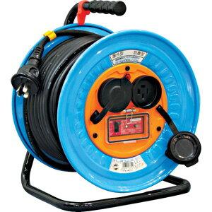 DNW-EK330-20A日動電工ドラム防雨防塵型三相200Vアース過負荷漏電しゃ断器付30m