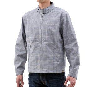 94177NHB1607デイトナヘンリービギンズカフェスタイルジャケットグレンチェックLサイズ