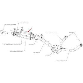M-R02502Cアクラポビッチ(AKRAPOVIC)リペアサイレンサーR-TYPE04年-10年DL650Vストロームカーボン
