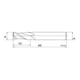 C2MAD0800659-1574三菱マテリアル(株)三菱K2枚刃超硬エンドミル(ミドル刃長)アルミ用ノンコート8mm