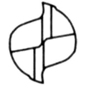 【メーカー在庫あり】C2MAD0800659-1574三菱マテリアル(株)三菱K2枚刃超硬エンドミル(ミドル刃長)アルミ用ノンコート8mm