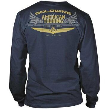 【USA在庫あり】 ホンダ純正 Tシャツ 長袖 ゴールドウィング ツーリング ネイビー XL 547389 JP店