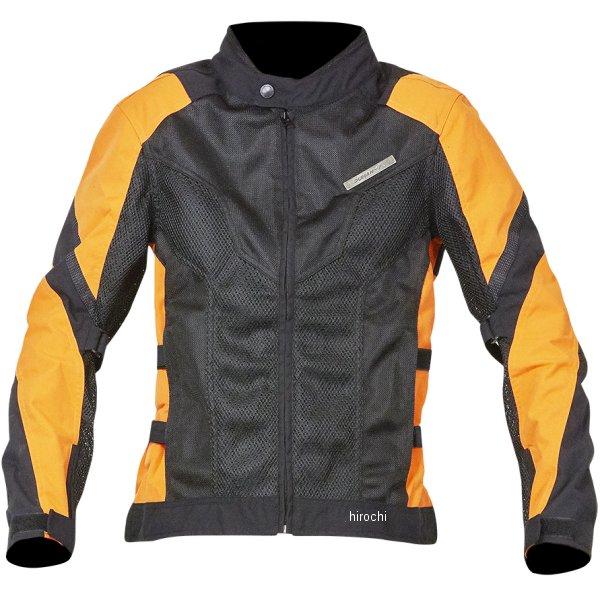 【メーカー在庫あり】 NBS バイクパーツセンター DUHAN ライダースメッシュジャケット 黒×オレンジ Lサイズ 905464 JP店画像