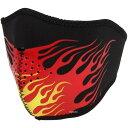 【メーカー在庫あり】 ライズ ハーフフェイスマスク ネオプレン フレイム 赤 フリーサイズ 4527625099432 JP店