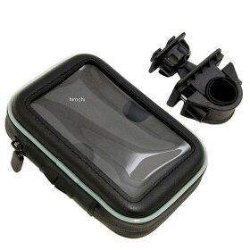 4091クリアキン防水GPSポーチハンドルバー取付スマートフォン等