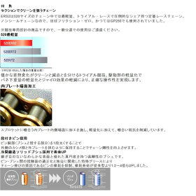 4525516131599DID(大同工業)チェーン520ERS2レース用チェーンERシリーズゴールド(96L)