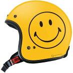 【メーカー在庫あり】 ゴッドブリンク godblinc ジェットヘルメット Smiley Face 限定オリジナル 黄 Mサイズ SF0010/M JP店