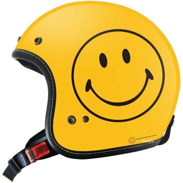 【メーカー在庫あり】 ゴッドブリンク godblinc ジェットヘルメット Smiley Face 限定オリジナル 黄 XLサイズ SF0010/XL JP店