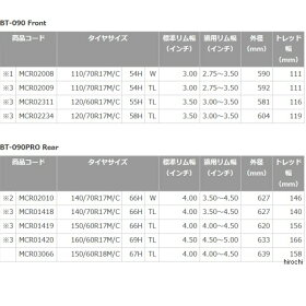 MCR02010ブリヂストン(BRIDGESTONE)バトラックスBT-090140/70R1766HWリア