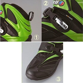 J8906-K008カワサキ×エルフシンテーゼ14カワサキグリーンシューズ緑25.5cm