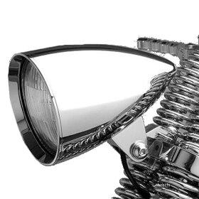 【USA在庫あり】0901-48001-4800CAヘッドウィンド(Headwinds)ヘッドライト4.5インチ(114mm)ハウジングのみコンクールロケットクローム