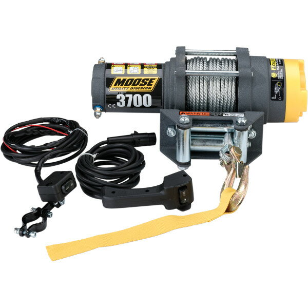 【USA在庫あり】 4505-0408 ムース MOOSE Utility Snow ウインチ 牽引力 1,665Kg ロッカースイッチ/有線リモコン 付属