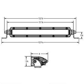 2001-102091031リジッドインダストリー(RigidIndustries)LEDライトバー10LEDスポット投光配光1個売り