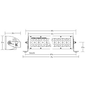 2001-1037104212リジッドインダストリー(RigidIndustries)LEDライト8LEDスポット配光1個売り
