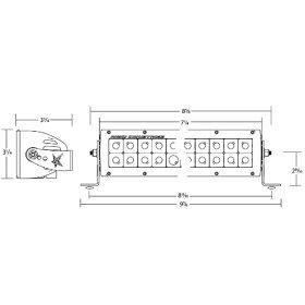 【USA在庫あり】2001-1038106312リジッドインダストリー(RigidIndustries)LEDライト12LEDスポット投光配光1個売り