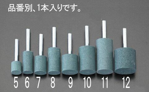 【メーカー在庫あり】 エスコ ESCO 19x38mm/6mm軸 軸付砥石 緑 000012007086 JP