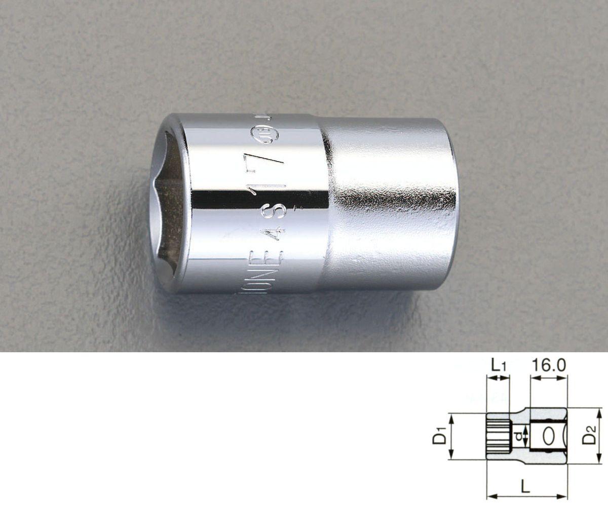 締付工具, ソケットレンチ用ソケット  ESCO 12sqx14mm 000012226982 JP