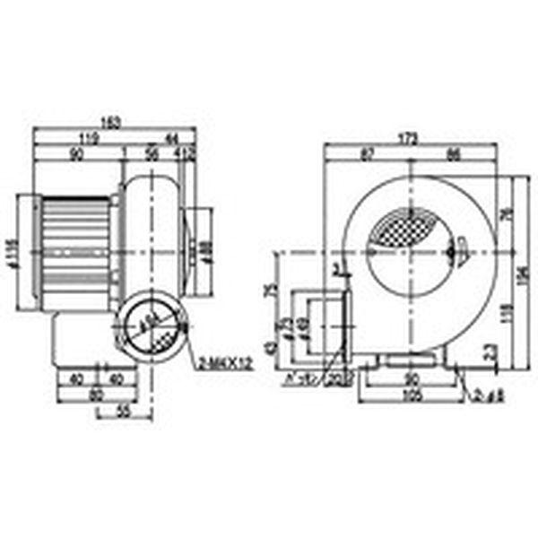 SF50 138-4180 昭和電機(株) 昭和 電動送風機 汎用シリーズ(0.04kW)