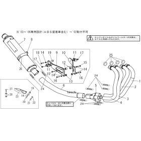 110-418-8280ヨシムラ機械曲チタンサイクロンフルエキゾースト03年-07年CB1300SF、CB1300SB(TT)