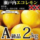 [国産レモン2kg]【送料込み】瀬戸内産 広島瀬戸内レモン(13個-25個)300円割引券付き!皮まで安心して食べれられます【A2】