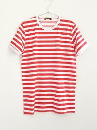 RUN&FLY英国製ボーダー半袖/長袖Tシャツ〈ブラック&ホワイト/レッド&ホワイト〉