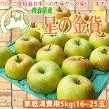 青森県産りんご「星の金貨」家庭消費用16〜23個入☆