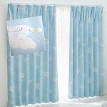日本製シナモンロール1級遮光・遮熱カーテン2枚組カーテン100×200(2枚セット)