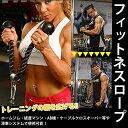 フィットネスロープ トライセップロープ 《ブラック》 腹筋運動 トレーニング[ダイエット][送料無料(一部地域を除く)] 2