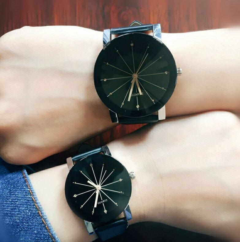 レディースアナログクォーツウォッチ 《ブラック》 A122 おしゃれ シンプル 腕時計[定形外郵便、、代引不可]