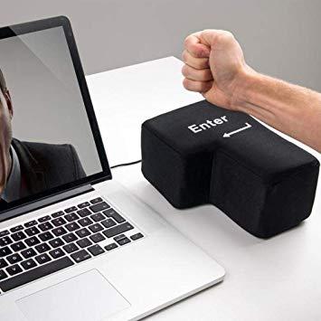 BIG ENTER 押せる USB 巨大エンターキー クッション おもしろグッズ インテリア パソコン[定形外郵便、送料無料、代引不可]
