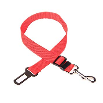 犬用シートベルト 《レッド》 車用 ペット用 安全ベルト[定形外郵便、、代引不可]
