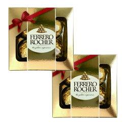 送料無料期間限定フェレロロシェT-4×2個セットチョコレートバレンタインデーホワイトデー専用袋付きプレミアムスイーツギフト義理チョコ洋菓子