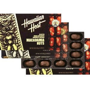 [ハワイお土産]ハワイアンホスト8oz マカダミアナッツチョコレート16粒 【24箱】 沖縄・離島送料800円:ひろしまグルメショップ