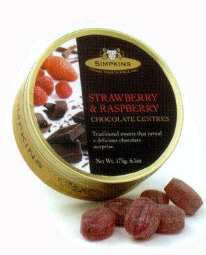 【イギリス土産】【シンプキン】シンプキン ドロップストロベリ・ラズベリ チョコレート175g